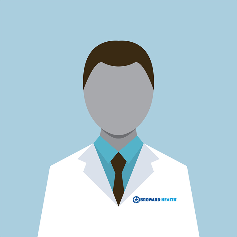 Silhouette of Male Broward Health Doctor